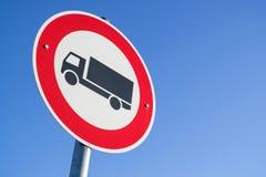 Κανένα φορτηγό επιτρεπόμενο στοκ φωτογραφία με δικαίωμα ελεύθερης χρήσης