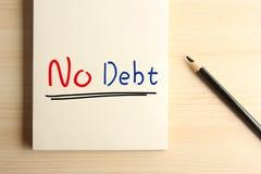 Κανένα χρέος Στοκ εικόνα με δικαίωμα ελεύθερης χρήσης