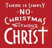 Κανένα Χριστούγεννο χωρίς Χριστό Διανυσματική απεικόνιση