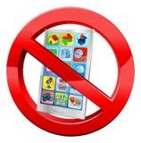 Κανένα mobiles Στοκ εικόνα με δικαίωμα ελεύθερης χρήσης