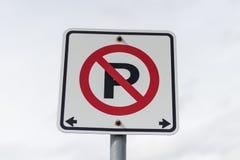 Κανένα parkingsign Στοκ εικόνα με δικαίωμα ελεύθερης χρήσης