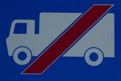 κανένα truck σημαδιών Στοκ εικόνες με δικαίωμα ελεύθερης χρήσης