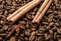 Κανέλα και καφές Στοκ Εικόνες