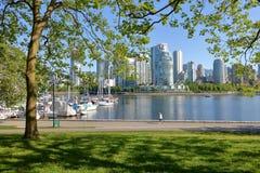 Καναδάς δυτικών ακτών και στο κέντρο της πόλης Βανκούβερ στοκ φωτογραφίες