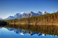 Καναδάς, εθνικό πάρκο Banff, λίμνη του Herbert Στοκ Φωτογραφίες