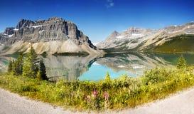 Καναδάς, εθνικό πάρκο Banff, λίμνη τόξων, πανόραμα Στοκ φωτογραφία με δικαίωμα ελεύθερης χρήσης