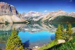 Καναδάς, εθνικό πάρκο Banff, λίμνη τόξων Στοκ Εικόνες