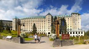 Καναδάς, εθνικό πάρκο Banff, Lake Louise, πανόραμα Στοκ φωτογραφίες με δικαίωμα ελεύθερης χρήσης