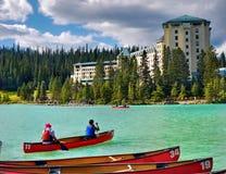 Καναδάς, εθνικό πάρκο Banff, Lake Louise Στοκ Φωτογραφία