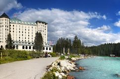 Καναδάς, εθνικό πάρκο Banff, Lake Louise Στοκ εικόνα με δικαίωμα ελεύθερης χρήσης