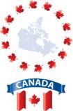 Καναδάς Ιούλιος patrotic1th απεικόνιση αποθεμάτων