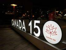Καναδάς 150 σημάδι Τορόντο στοκ εικόνες με δικαίωμα ελεύθερης χρήσης