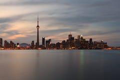 Καναδάς nightscape Τορόντο Στοκ φωτογραφίες με δικαίωμα ελεύθερης χρήσης