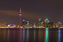 Καναδάς nightscape Τορόντο Στοκ εικόνα με δικαίωμα ελεύθερης χρήσης