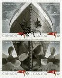 ΚΑΝΑΔΑΣ - 2012: παρουσιάζει τιτανική, άσπρη γραμμή αστεριών, τιτανική εκατονταετία 1912-2012 Στοκ φωτογραφία με δικαίωμα ελεύθερης χρήσης