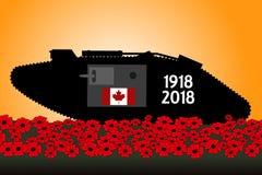 Καναδική δεξαμενή, εορτασμός της εκατονταετίας του μεγάλου πολέμου Στοκ εικόνα με δικαίωμα ελεύθερης χρήσης