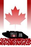 Καναδική δεξαμενή, εορτασμός της εκατονταετίας του μεγάλου πολέμου Στοκ εικόνες με δικαίωμα ελεύθερης χρήσης