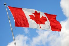 καναδική σειρά σημαιών στοκ εικόνες με δικαίωμα ελεύθερης χρήσης