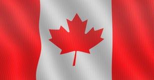 Καναδική σημαία με τη δομή υφάσματος Στοκ φωτογραφίες με δικαίωμα ελεύθερης χρήσης