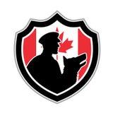Καναδική CREST ομάδας αστυνομίας κυνοειδής ελεύθερη απεικόνιση δικαιώματος