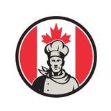 Καναδικό εικονίδιο σημαιών Baker Καναδάς αρχιμαγείρων Στοκ Φωτογραφία
