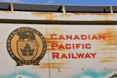 Καναδικό ειρηνικό αυτοκίνητο κιβωτίων σιδηροδρόμων στοκ εικόνες