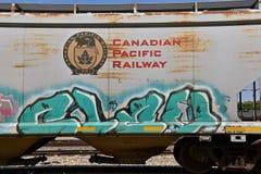 Καναδικό ειρηνικό boxcar σιδηροδρόμων στοκ εικόνες