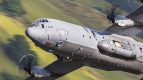 Καναδικό C130 Hercules κατά την πτήση στοκ φωτογραφίες