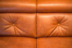 Καναπές δέρματος Στοκ Φωτογραφίες