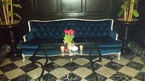 Καναπές βελούδου Στοκ Φωτογραφία