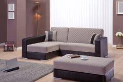 Καναπές γωνιών για το σπίτι Στοκ Εικόνα