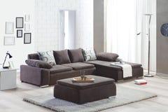 Καναπές γωνιών για το σπίτι Στοκ Εικόνες