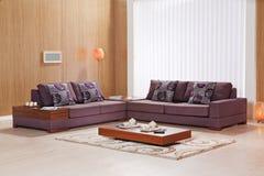 Καναπές γωνιών για το σπίτι Στοκ Φωτογραφίες