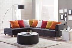 Καναπές γωνιών για το σπίτι Στοκ εικόνα με δικαίωμα ελεύθερης χρήσης