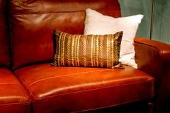 καναπές δέρματος Στοκ Εικόνα