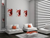 καναπές δωματίων Στοκ εικόνες με δικαίωμα ελεύθερης χρήσης