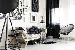 Καναπές και καρέκλα Στοκ εικόνες με δικαίωμα ελεύθερης χρήσης