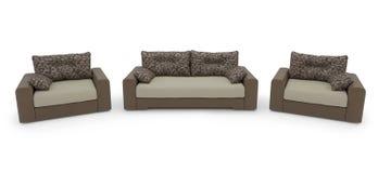 Καναπές και πολυθρόνα Στοκ Εικόνες