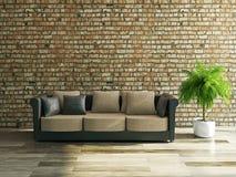 Καναπές με τα μαξιλάρια διανυσματική απεικόνιση