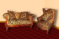 Καναπές & πολυθρόνα στοκ εικόνες