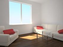 καναπές πολυθρόνων Στοκ φωτογραφία με δικαίωμα ελεύθερης χρήσης