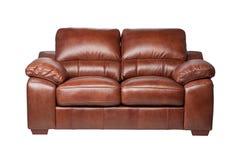 καναπές πολυτέλειας δέρ&mu Στοκ Εικόνες
