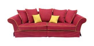 Καναπές που απομονώνεται κόκκινος Στοκ Εικόνες