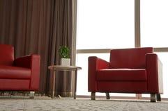Καναπές, πολυθρόνες και πίνακας στην αρχή Στοκ εικόνα με δικαίωμα ελεύθερης χρήσης