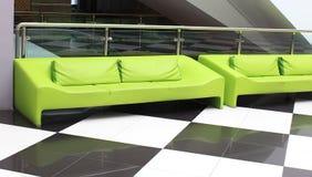 καναπές πράσινος Στοκ φωτογραφία με δικαίωμα ελεύθερης χρήσης