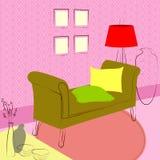 Καναπές στη αίθουσα αναμονής Στοκ φωτογραφία με δικαίωμα ελεύθερης χρήσης