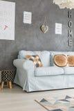 Καναπές στο καθιστικό Στοκ Εικόνα