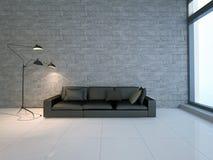 Καναπές στο δωμάτιο Στοκ Φωτογραφία