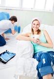 καναπές χαλάρωσης ζωγραφ Στοκ Φωτογραφίες