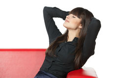 καναπές χαλάρωσης Στοκ Φωτογραφία